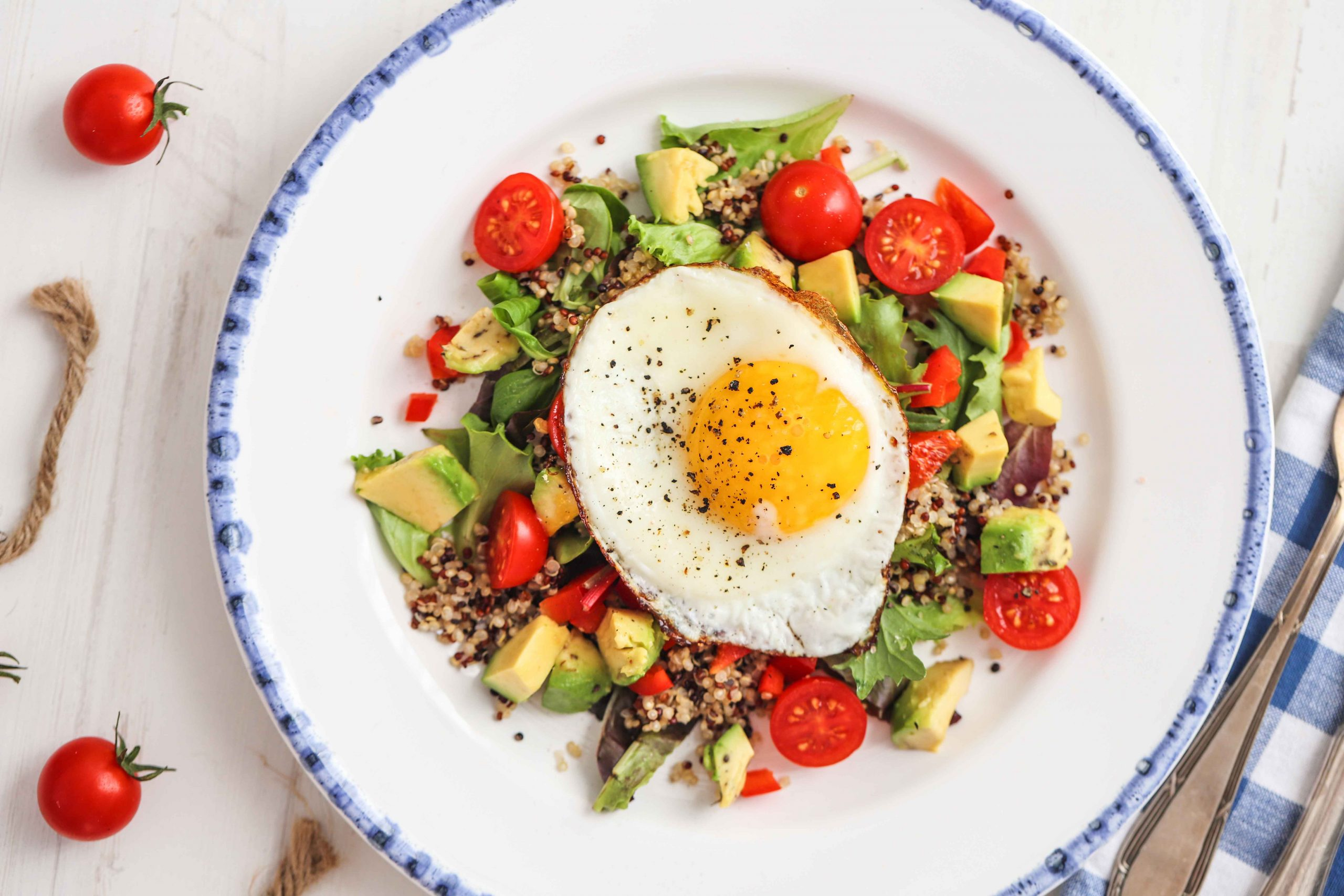 Breakfast Quinoa Salad With Fried Egg