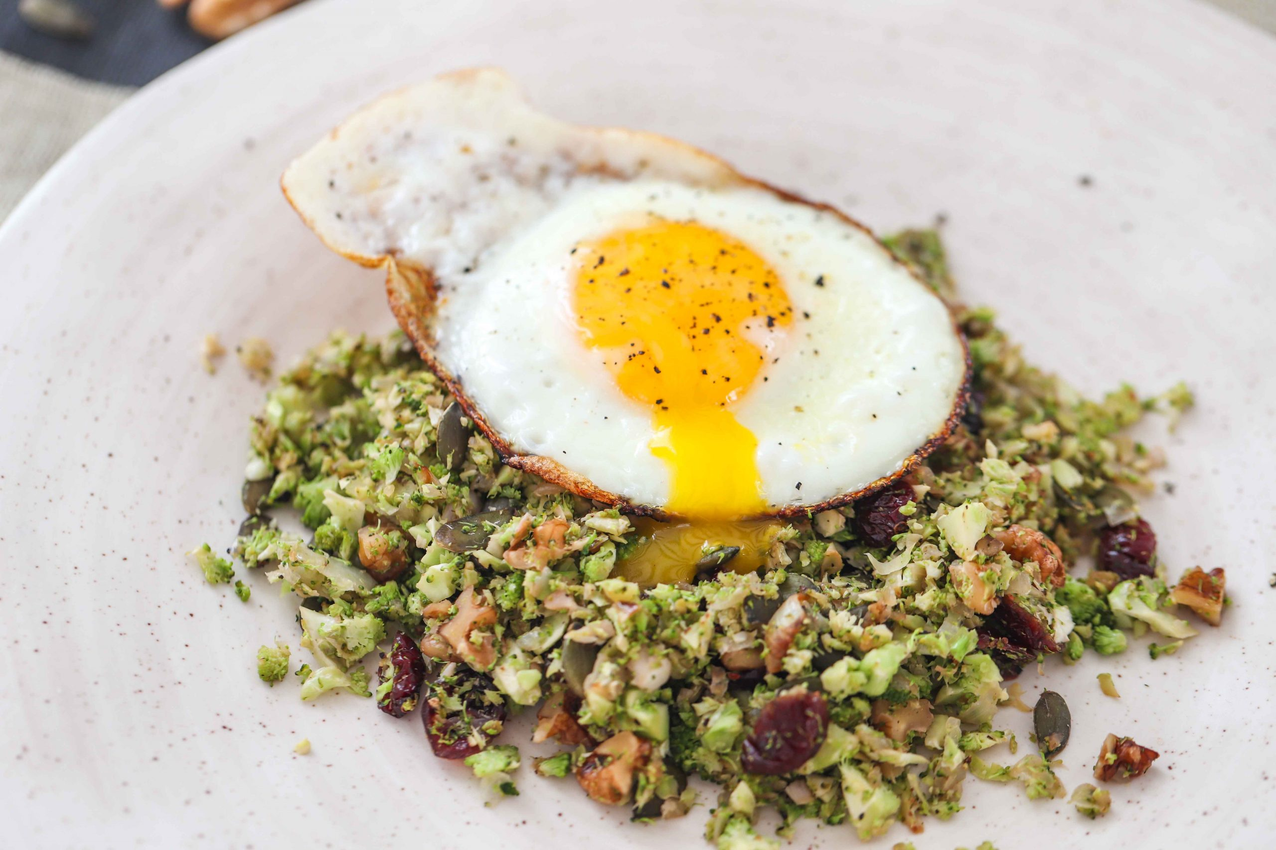 Superfood Breakfast With Fried Egg